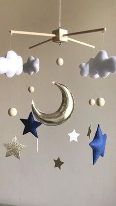 Baby Room Diy, Baby Boy Rooms, Baby Room Decor, Baby Boy Nurseries, Nursery Decor, Baby Cribs, Baby Room Ideas Early Years, Star Mobile, Baby Room Neutral