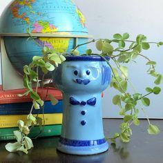 Excited to share this item from my shop: Blue man head planter Helsingborg /Sweden Scandi boho plants Face Planters, Cool Face, Helsingborg, Face Men, Vintage Children, Sweden, Scandinavian, Boho, Cool Stuff