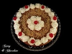 Tarta de brownie y mousse de chocolate para mi cumpleaños - Chocolate mousse cake