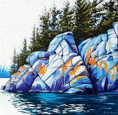 Muskoka Shore, Oil on Canvas, 18 inches x 18 inches Landscape Drawings, Landscape Art, Landscape Paintings, Landscapes, Group Of Seven Paintings, Sketch Painting, Watercolor Paintings, Watercolour, Artist Art