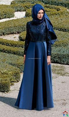 Lacivert Elbise Kayra 2016