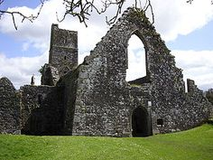 Kilcrea Friary - County Cork, Ireland  The name Kilcrea means the Church of Cre', a woman who founded a hermitabe here before the time of the Franciscans.  The name in Irish is Cill Chre and means the Cell of Cere, Cera or Cyra, a saint who lived in the 6th Century and is said to have founded a nunnery about a mile east of the friary in the parish of St. Owen's, now called Ovens. (appropriate...)