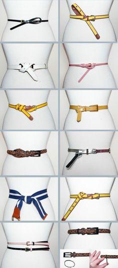 den Gürtel origeinell tragen