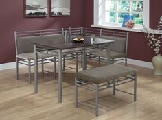 I3076 Cappuccino Marble and Metal 3-Piece Dining Set Gabriels in Leamington