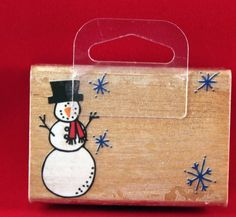 Snowman message stamp. never inked 1999