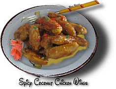 Spicy Coconut Chicken Wings