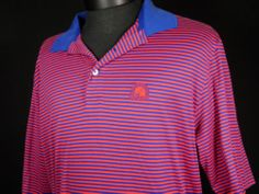 Polo Golf Ralph Lauren Mens Size Large Red Blue Striped 100% Pima Cotton Peru #Shopping #eBay #TreatYourself http://r.ebay.com/S3WwMF