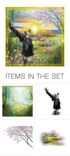 """""""Rain on My Face"""" by thresholdpaperart ❤ liked on Polyvore featuring art"""