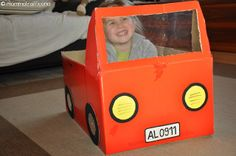 MAMMATRAFFICONA: Giochi fai da te: il furgoncino di cartone