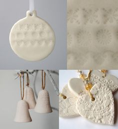 Porcelain tree ornaments