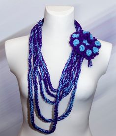 Braided necklaceBolt от GGUA на Etsy, $12.00