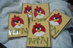 angry birds theme - invite. There are so many more links parties from this blog