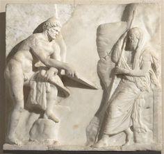 Ulysse consultant Tirésias Bas-relief (IIe-Ier s. avant JC)  Paris, Musée du Louvre