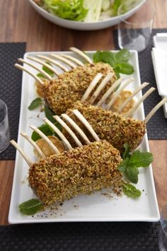 Pistachio and Pecan Crusted Rack of Lamb