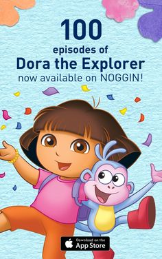 Dora has joined NOGGIN! Swing over to the NOGGIN App where kids can watch 100 full episodes of Dora the Explorer! Subscribe today.