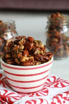 Espresso Glazed Nuts from www.halfbakedharvest.com >> #WorldMarket Outdoor Movie Night