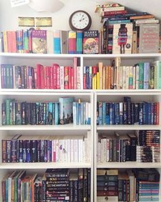 This looks like it's straight off a Pinterest board. | 24 Bookshelves That Will…