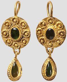 Golden Earrings - Roman, 1st - 2 Century.