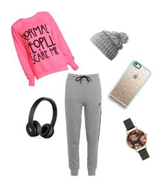 """""""Work home"""" by lilicabsilveira-1 on Polyvore featuring NIKE, Beats by Dr. Dre, Helly Hansen, Casetify and Olivia Burton"""