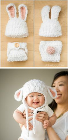 Crochet Baby Lamb Hat. Read at : diyavdiy.blogspot.com