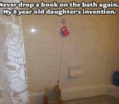 Never drop a book in the bath again.