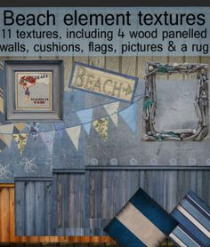 Beach Element Textures Pack. Second Life Lucky Letter Boards on nessmarket. The prize contains 11 textures. They are full perm textures.