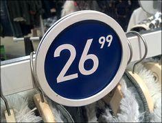 Sign Circle: Direct Bar Mount Alternative – Fixtures Close Up Price Signs, Silhouette Sign, Retail Signage, Flip Clock, Close Up, Alternative, Product Display, Retail Price, Binder