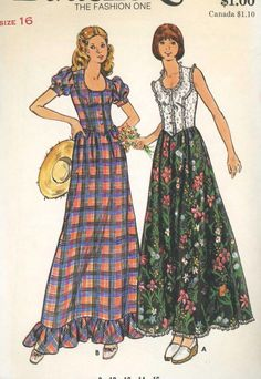 Granny dresses were short, fitting, long, loose peasant in the 1960s