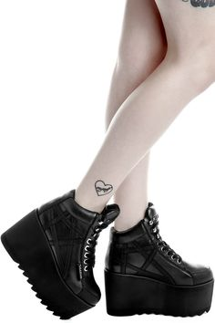 Malice Platform Trainer [B] Edgy Shoes, Cute Shoes, Me Too Shoes, Pastel Goth Shoes, Gothic Shoes, Dark Fashion, Gothic Fashion, Fashion Shoes, Fashion Accessories