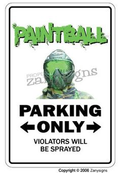 Paintball Sign Paint Ball Player Sport Guns Gear Masks Gift Team Paintballs Ball | eBay