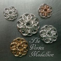 The Vortex Medallion -- Kits and free, online tutorial from Urban Maille <3