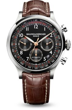 Discover the Capeland 10067 automatic chronograph watch for men, designed by Baume et Mercier, Swiss Watch Maker.