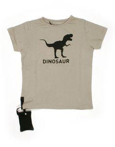 Dinosaur T-shirt light grey (with sound!) - Yporque