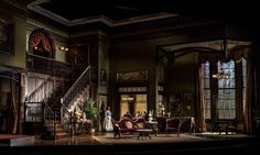 The Little Foxes. Goodman Theatre. Scenic design by Todd Rosenthal. 2014