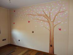 mural arbol para dormitorio infantil