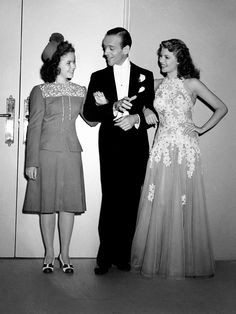 Shirley Temple visits Fred Astaire and Rita Hayworth / on the set of William A. Seiter's You Were Never Lovelier (1942)