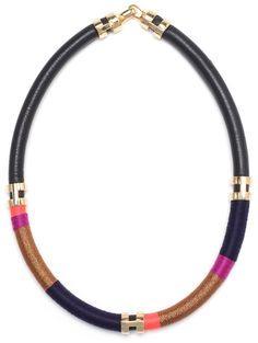 Lizzie Fortunato Pink Metallic Double Take Necklace