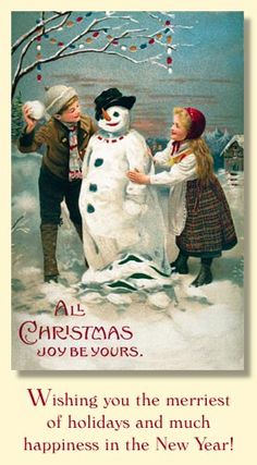 Merck Family Old World Christmas Cards.... A favorite!