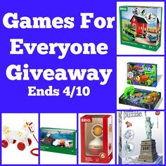 Games For Everyone Giveaway 4/10 US/CAN ~ Tales From A Southern Mom