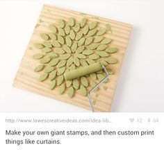 "Make Your Own ""Stamps"" (Stencils) to Apply to Fabric, Wood, Whatever!"