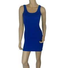 Blue Tank Dress #418-BM Blue tank mini dress Dresses