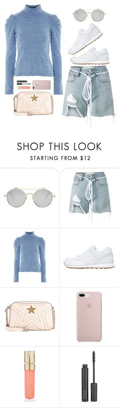 """Day look."" by noa5353 ❤ liked on Polyvore featuring Givenchy, Off-White, Topshop, New Balance, STELLA McCARTNEY, Smith & Cult, ZOEVA, girlpower, airportstyle and polyvoreeditorial"