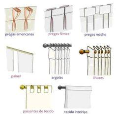 Tipos de acabamento de cortina Mais