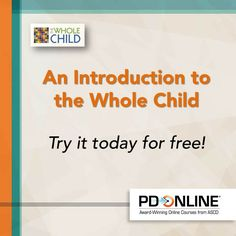Find out how ASCD's online #ProfDev courses can improve your practice. Try the #wholechild course for free!