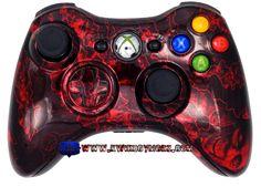Red Chrome Zombie Apocalypse Xbox 360 Controller - KwikBoy Modz  #zombies #zombie #zombieapocalypse #redchrome #customcontroller #controller #moddedcontroller #xbox360 #xbox360controller #kwikboymodz #controllermods #modded #zombiecontroller