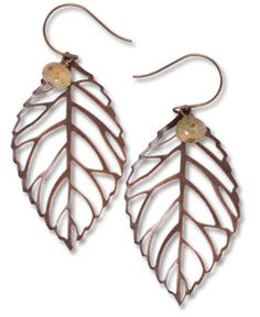 Bronze Filigree Leaf Earrings: I bought these some time back, but they seem to have disappeared! I keep hoping they'll turn up... loved them!