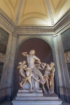 Laocoonte en el Museo Vaticano en Roma.