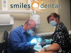 The Dr. with a patient on Dentistry From The Heart Day, 2014!