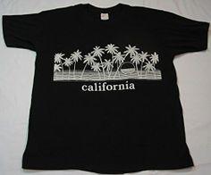 Vintage 70s 80s California Sunset XL T Shirt Black Surf Beach Surfer s s Tee | eBay