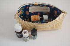 Stash Pouch Canvas Square Bottom Wide Opening by BPoppiesHandmade
